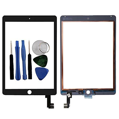 BisLinks® Für iPad Air 2 Berühren Bildschirm Digitizer Glas Schwarz 6 Gen A1566 A1567 Tools