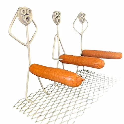 SBYMX Hot Dog Röster Rack Hot Dog Rack Grill Rack Wurstwender Edelstahl Wurst Grillzange Wursthalter Grillguthalter Bratwurst Rostbratwurst Grillzubehör Grillgadget Gesc