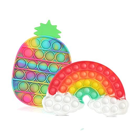 Bubble Fidget Toy Sensorial, juguete antiestrés para las necesidades especiales antiansiedad de ADD Autismo   Extrusión Bubble Fidget Juguetes para Aliviar la ansiedad adultos y niños (2 unidades)