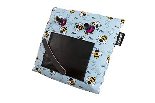 Manicure Kussen Manicure Kussen Stand in een Bee print stof, geen morsen meer! door coz-e-nailbar.