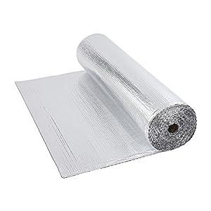 Papel de burbujas de aluminio, doble aislamiento, rollo de 1,2m x 40m, 48metros cuadrados–suelo Loft pared