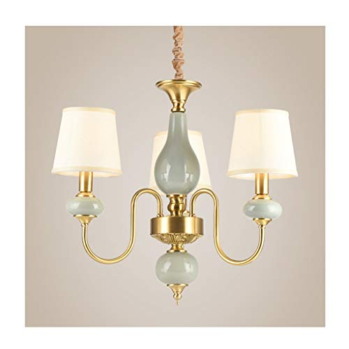 @Kandelaar van keramiek in Amerikaanse stijl koper woonkamer eetkamer slaapkamer hanglamp luxe voor thuis [energie-efficiëntieklasse A++]