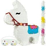 ILP Pignata Festa Compleanno Lamaa Riempire - Pignatta Compleanno Bambini - Giochi per Le Feste - con Bastone Pignatta e Maschera - 40 x 10 x 46 cm