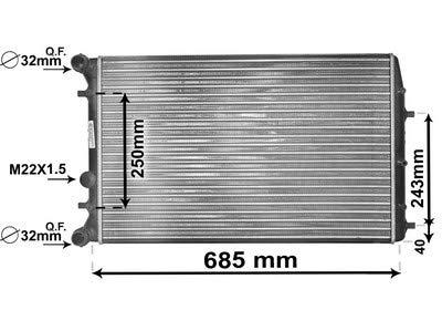Kühler, Motorkühlung *** IR PLUS *** mit Zubehör (1710-2724) Wärmetauscher Kühlung Motorkühler