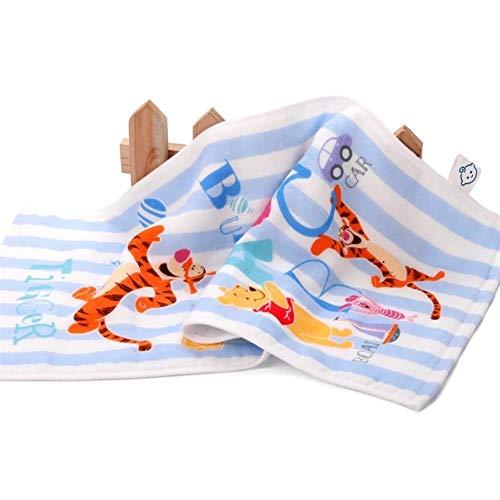 YANODA Winnie The Pooh Handtuch Junge Und Mädchen Baby Fund Gaze Kindertuch Aus Reiner Baumwolle Kleines Handtuch Tragbar (Color : Blue)