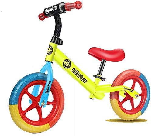 Bicicleta de Equilibrio para niños pequeños y niños, Entrenamiento de Bicicleta con Asiento Ajustable y sin Pedales 16 Pulgadas para niños y niños pequeños de 2 a 6 años.