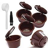 Filtro de café cápsulas de café de filtro Copas recargable Filtro cuchara cepillo para la máquina Dolce Gusto Máquinas Brown Cápsula para la cocina