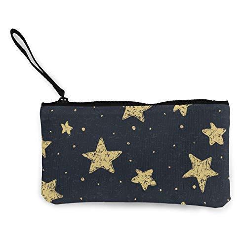 XCNGG Monederos Bolsa de Almacenamiento Shell Textured Stars Fashion Coin Purse Bag Canvas Small Change Pouch Multi-Functional Cellphone Bag Wallet Cosmetic Makeup Bag