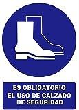 Normaluz RD20024 - Señal Es Obligatorio El Uso De Calzado De Seguridad  PVC Glasspack 0,7mm 21x30 cm