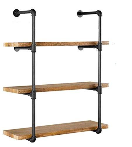 Wandhalterung für Regale, 106,7 x 30,5 cm (H x T), industrielles Eisen-Rohr, Wandhalterung für Regale, Vintage, Retro, Schwarz, 2 Stück