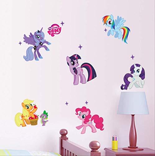 Etiqueta De La Pared, Dibujos Animados My Little Pony Para Niños Decoración De La Habitación Anime Animal Unicorn Wall Mural Art Pvc Movie Poster Home Decals 59X104Cm