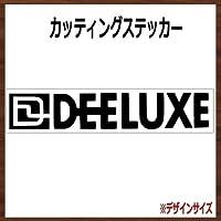 【ロゴ・文字】DEELUXE ディーラックス カッティングステッカー (ブラック, 横10x縦2cm 2枚組)