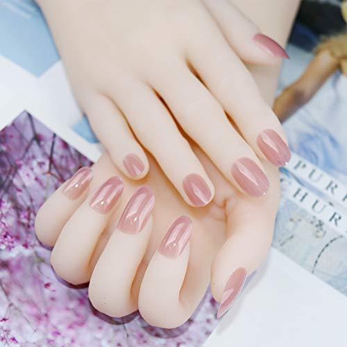DKHF Valse nagels Plastic Langdurige Nagel Zachte Pure Color Jelly Afneembare Nepnagels