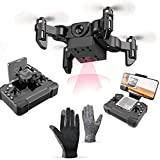NLRHH E, Mini Quadcopter Plegable, con operación automática de WiFi, 360DEG;Flips, 3 Velocidad de Ajuste y 5 Juguetes Extra de baterías compatibles con Personas Mayores de 14 años Peng (Size : 1080P)