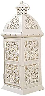 HotMall-US Candles Lantern Holder, Vintage Hollow Floral Cage Design Metal Candle Lantern Stand Candelabra for Indoor Outdoor Use