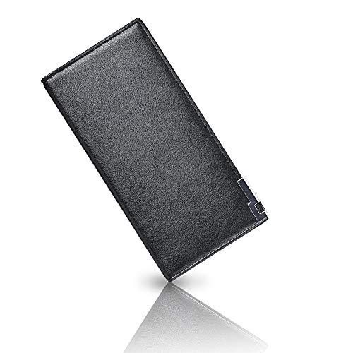 Billetera Carteras Estilo Monedero PU Textura para Hombre con Bolsillos Pare Tarjetas de Crédito, Billetes, Bolsillo, Monedero, Compartimento Transparente