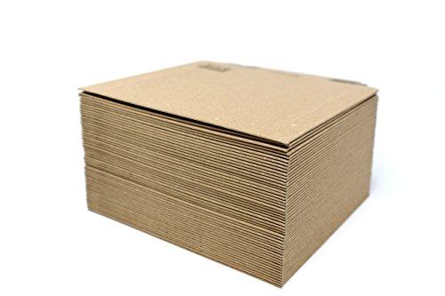 50 x Sobres Kraft Autoadhesivos Tira de Silicona de Cartón Rígido ACD 180 x 164 mm - 300 g/m2 Embalaje Anti-Frustación con Sistema Abrefácil - Frustration Free Packaging - Protección Extra en Bordes