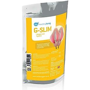 G-Slim - Glucomannan Weight Loss System - Natural Appetite Suppressant - Premium Quality Diet Supplement - Suitable for Vegetarians & Vegans - Flat Pack - 60 Capsules