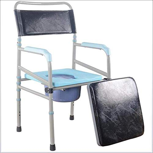 RRH-Bathroom Wheelchairs Bedside Commodes Wheelchair Portable Bedside Toilet Adjustable Height Shower Toilet Seat Luxury Toilet Chair Medical Aid, Comfort Handrail Aluminum Transport Chair Bathroom Wh