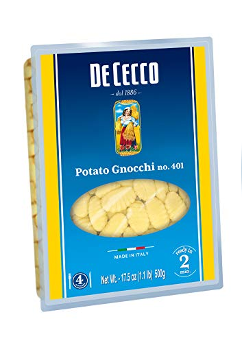De Cecco Pasta, Potato Gnocchi No.401, 17.5 Ounce (Pack of 4)
