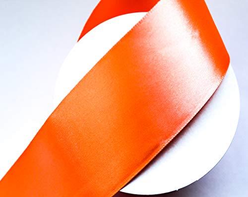 CaPiSo Nastro di Raso 4 cm Nastro Decorativo Natale Nastro Nastro Regalo Nastro Decorativo Arancione Fluo