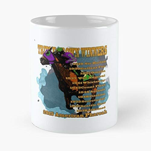 Famous Champion Colorful Derby Belmont Pharoah American Stakes Kentucky Horse Racing Best 11 oz Kaffeebecher - Nespresso Tassen Kaffee Motive