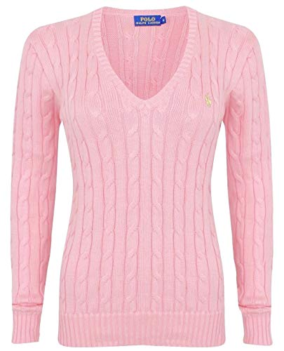Polo Ralph Lauren Cable Knit V-hals Cotton Pullover Kimberly Polo