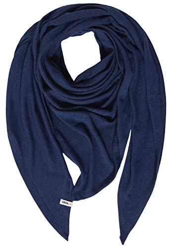 Cecil Damen Cosy Dreiecks-Tuch deep blue melange A Soft, Dreieckig geschnitten, Monochrom