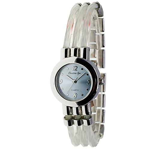 Christian Gar Cg-88546-4 Reloj Analógico para Mujer Caja De Metal Esfera Color Azul