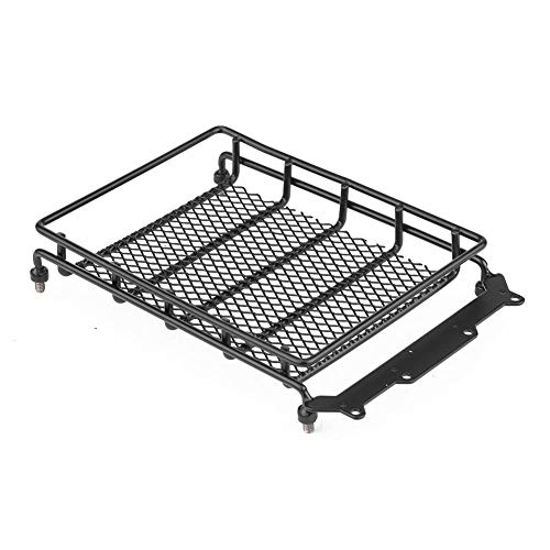 Dilwe RC Roof Rack Luggage, Model Vehicle Accessory Steel Luggage Tray Roof Rack for 1/10 RC Crawler Car(M)