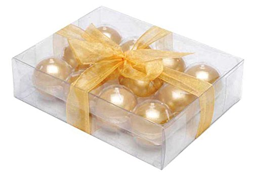 Biedermann & Sons Metallic Ball Candles, Box of 12, Gold, 1.5-Inch Diameter