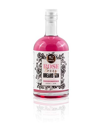 Breaks Rose Berry Gin - Fruchtig - Frisch mit rosigem Bouquet. Himbeeren, Rosen, Litschis (1 x 0.5 l)