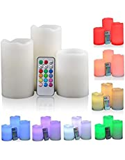 Romantic 3Pcs wireless remote control battery operated led flameless candles lights set let candles