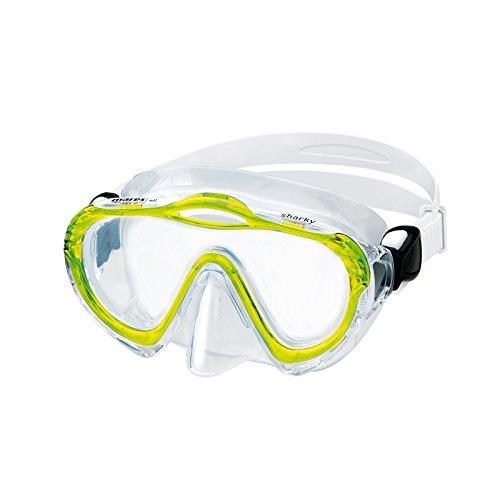 Mares Sharky - Gafas de Buceo Unisex, Color Amarillo, Talla Bx
