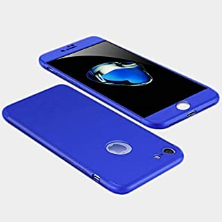 Apple iPhone 8 Case, fashion ultra Slim Gkk 360 Full Protection Cover Case - Blue