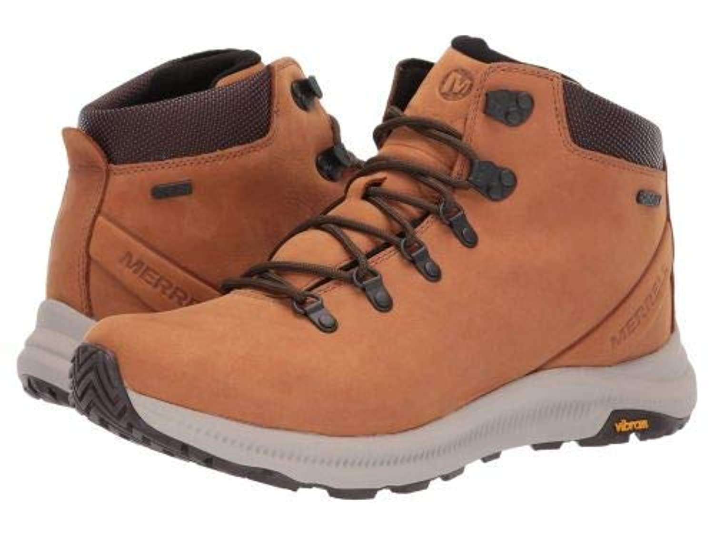 [メレル] メンズ 男性用 シューズ 靴 スニーカー 運動靴 Ontario Mid Waterproof - Brown Sugar [並行輸入品]