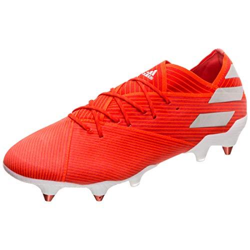 Adidas Nemeziz 19.1 SG, Botas de fútbol Hombre, Rouge Argent, 47 1/3 EU