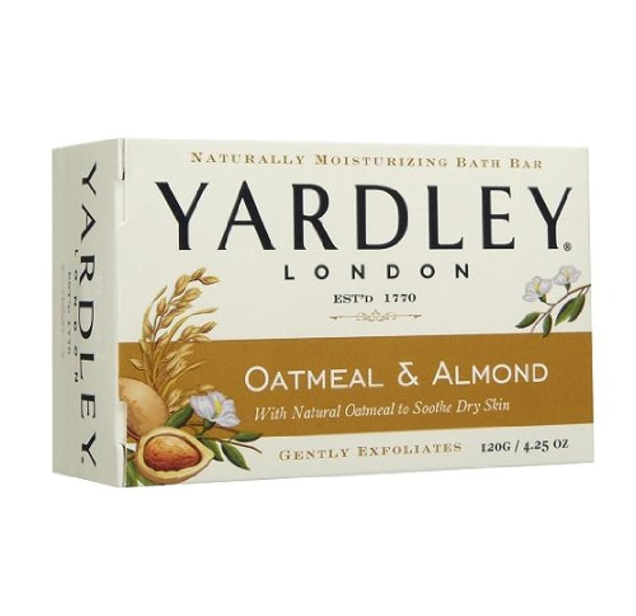 レポートを書くガレージ飛躍【2個:ハワイ直送品】Yardley London Oatmean & Almond Moisturizing Bath Bar ヤードリー オートミール&アーモンド ソープ  120g