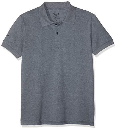 Trigema Herren 627604 Poloshirt, Grau (Steingrau-Melange 246), Large (Herstellergröße: L)
