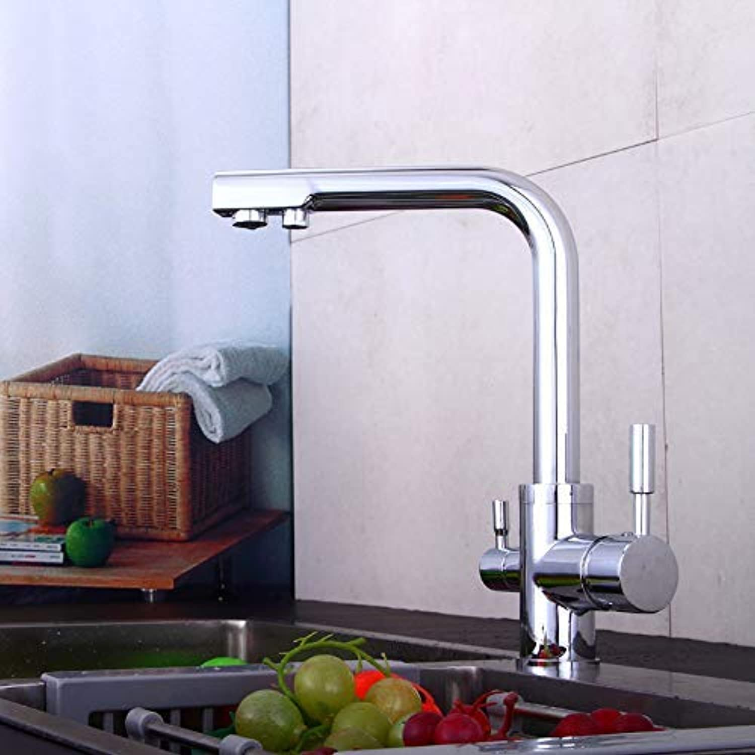 XINXI HOME Taps Faucet Kitchen Sink Kitchen Hot And Cold Faucet Kitchen Hot And Cold Faucet Dish Basin Faucet Spring Pull