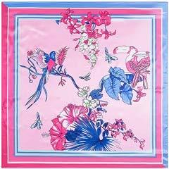 YDMZMS 90x90cm Merk Twill Zijde Sjaal Zingende Vogels Geurige Bloemen Print Sjaal Voor Vrouwen Hoofdband Grote Vierkante Sjaal Sjaal Kerchief