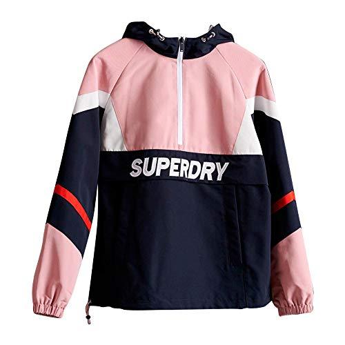 Superdry Damen Colour Block Overhead Jacke, Rosa (Soft Pink 10R), M