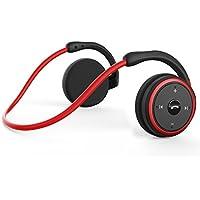 KAMTRON Auriculares Bluetooth 4.1 Running,Cascos Inalámbricos Deportivos Resistente al Sudor con Micrófono Incorporado,Hi-Fi Sonido Estéreo,12 Horas de Trabajo para Correr, Gimnasio (Rojo)