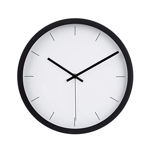 Amazon Basics – Wanduhr, modernes Design, 30,5 cm, schwarz