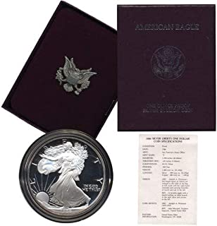 2004 W American Eagle Silver Proof Dollar Coin  $1 US PROOF w// OGP /& COA