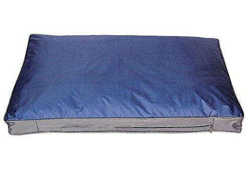 SAUERLAND Hunde-Outdoorkissen 105 x 67 cm, blau, Robustes und wasserdichtes Material, Outdoor-Hundebett, Liegekissen, Hundekissen für draußen