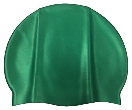 Malmsten Unisex Silicone Swim Cap, Dark, One Size, groen