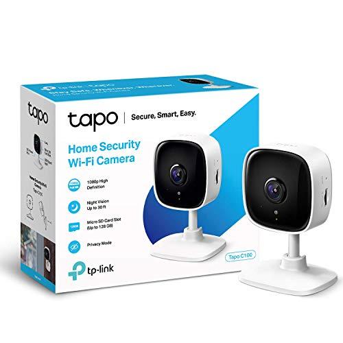 petit un compact Caméra de surveillance WiFi TP-Link, caméra IP sans fil Tapo 1080P avec fonction de vision nocturne…