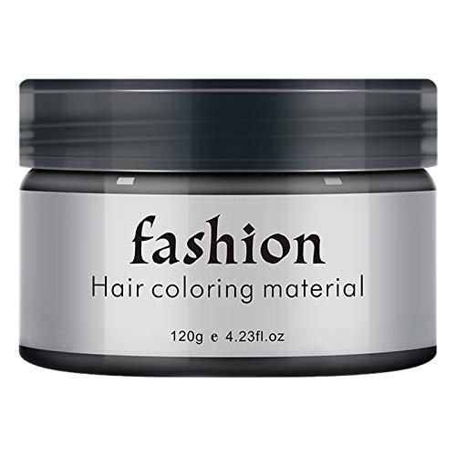 Beauneo Temporaire Couleur de Cheveux Cire Hommes Bricolage de Boue Unique Moulage Pate Teinture CrèMe Gel pour les Cheveux pour la Coloration des Cheveux Style Noir