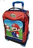 Mochila escolar con carrito Super Mario con seta versión Deluxe viaje + silbato de regalo + bolígrafo de colores